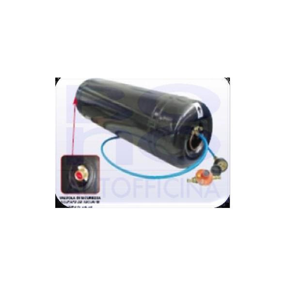 Serbatoio cilindrico ICOM per camper - doppia camera - Ø 315 X L. 820 - l. 47+6 - sensore di livello escluso (vedi correlati)